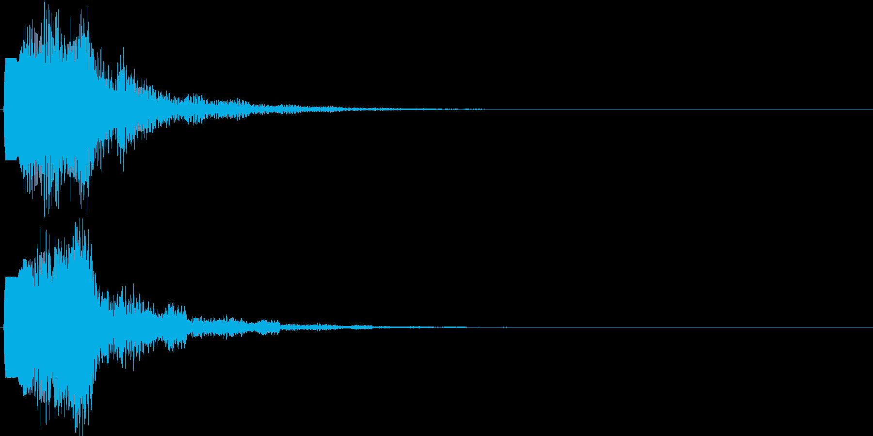 ピロロン(ボタン音・プッシュ音)の再生済みの波形
