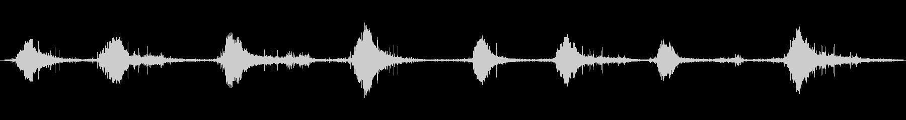 ブラシヒット、フォーリーの未再生の波形