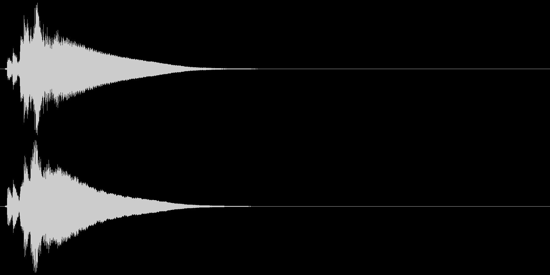 自転車のベル (チリーン)の未再生の波形
