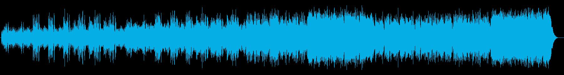 透き通るようなシンセ・金属楽器系サウンドの再生済みの波形