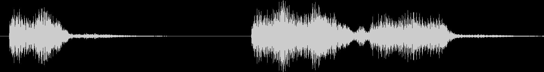 スロットなどのゲームにありそうな効果音の未再生の波形