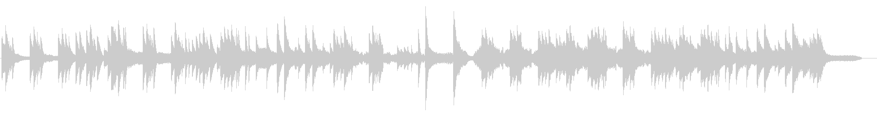 切なく儚いピアノBGM 感動シーンの未再生の波形