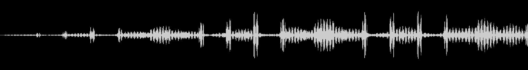 パルスイントロファーストアウトの未再生の波形
