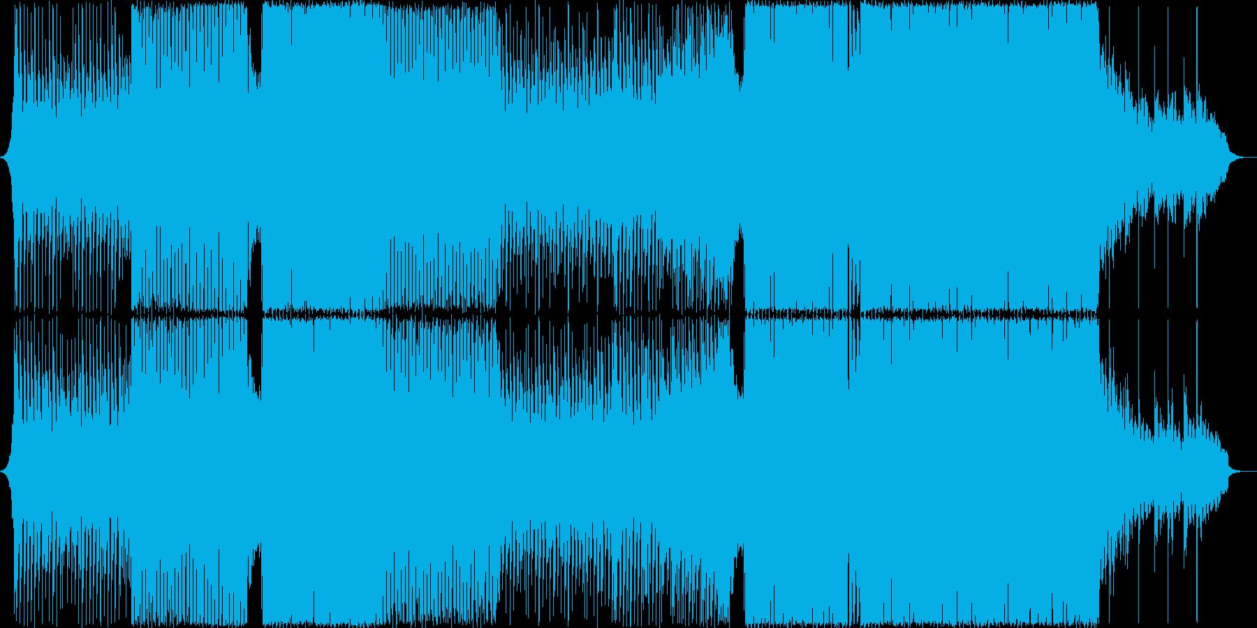 ポップで透明感のあるピアノEDMの再生済みの波形