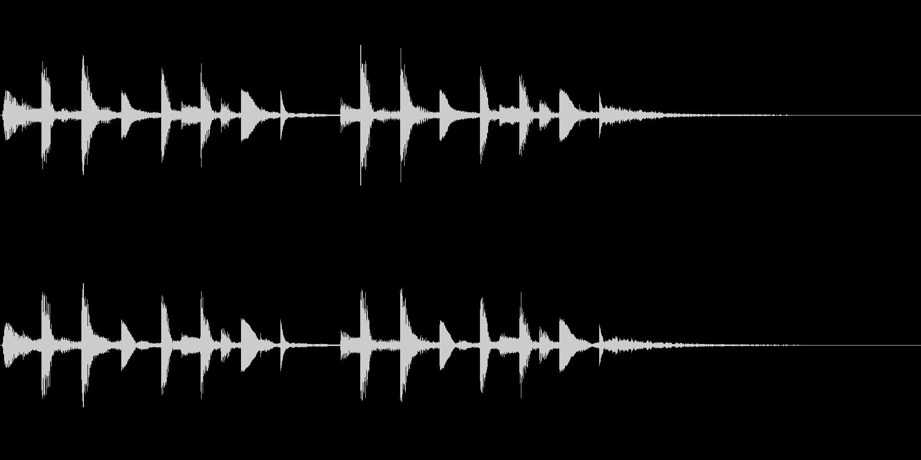 ミステリー映像作品の場面転換音ですの未再生の波形