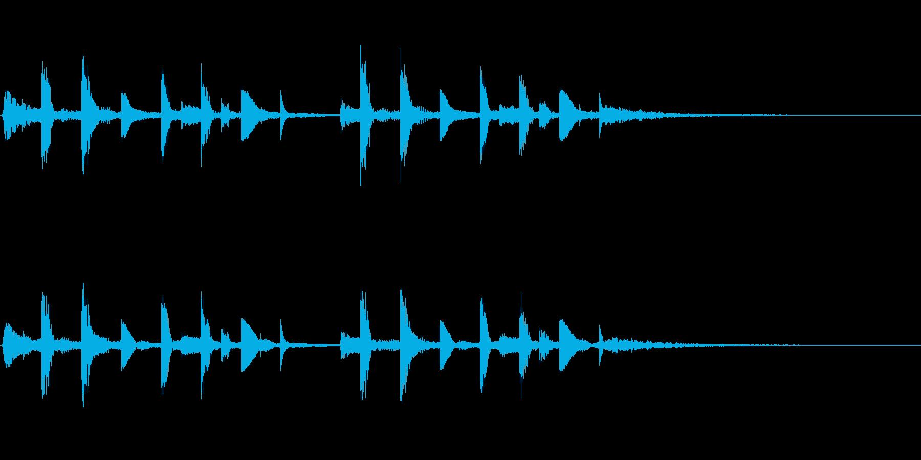 ミステリー映像作品の場面転換音ですの再生済みの波形