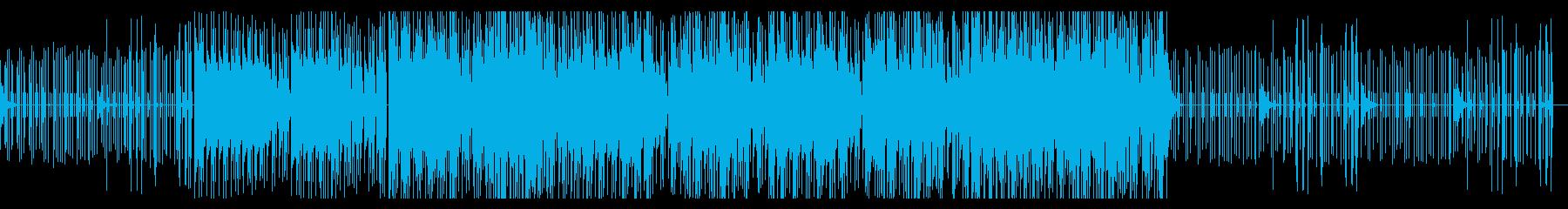 デジタルでプルックなトラップビートの再生済みの波形