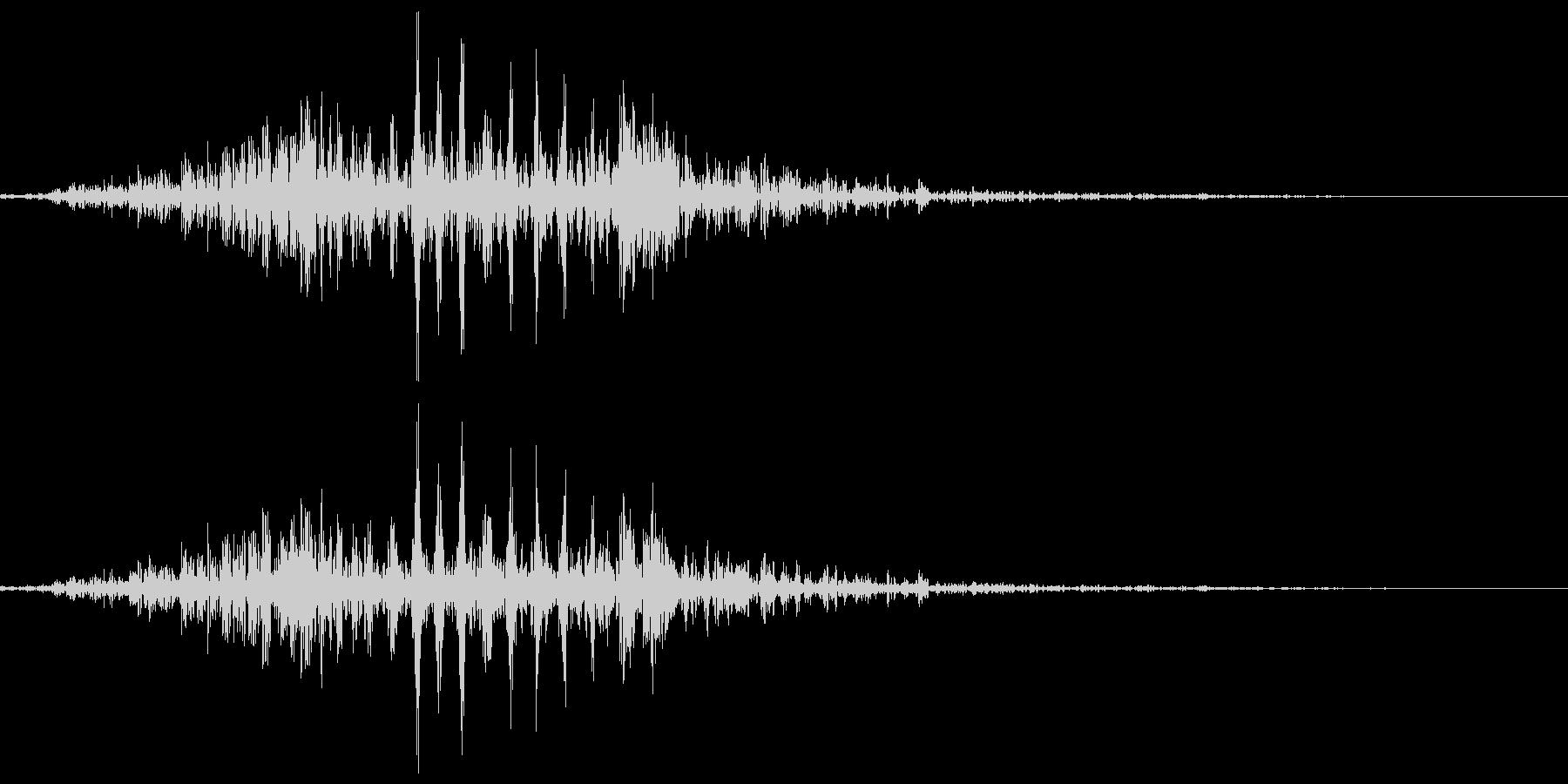 カエル、蛙の鳴き声(一鳴き) クアッの未再生の波形