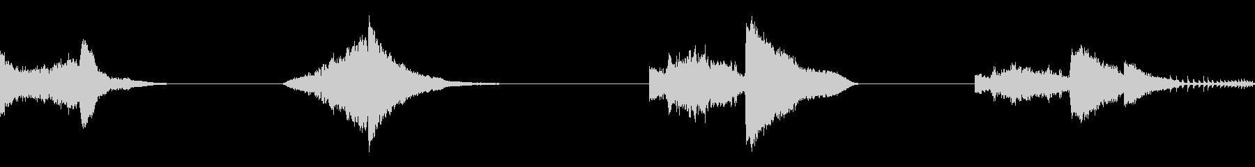 カートン、ホイッスル+ヒット、ロン...の未再生の波形