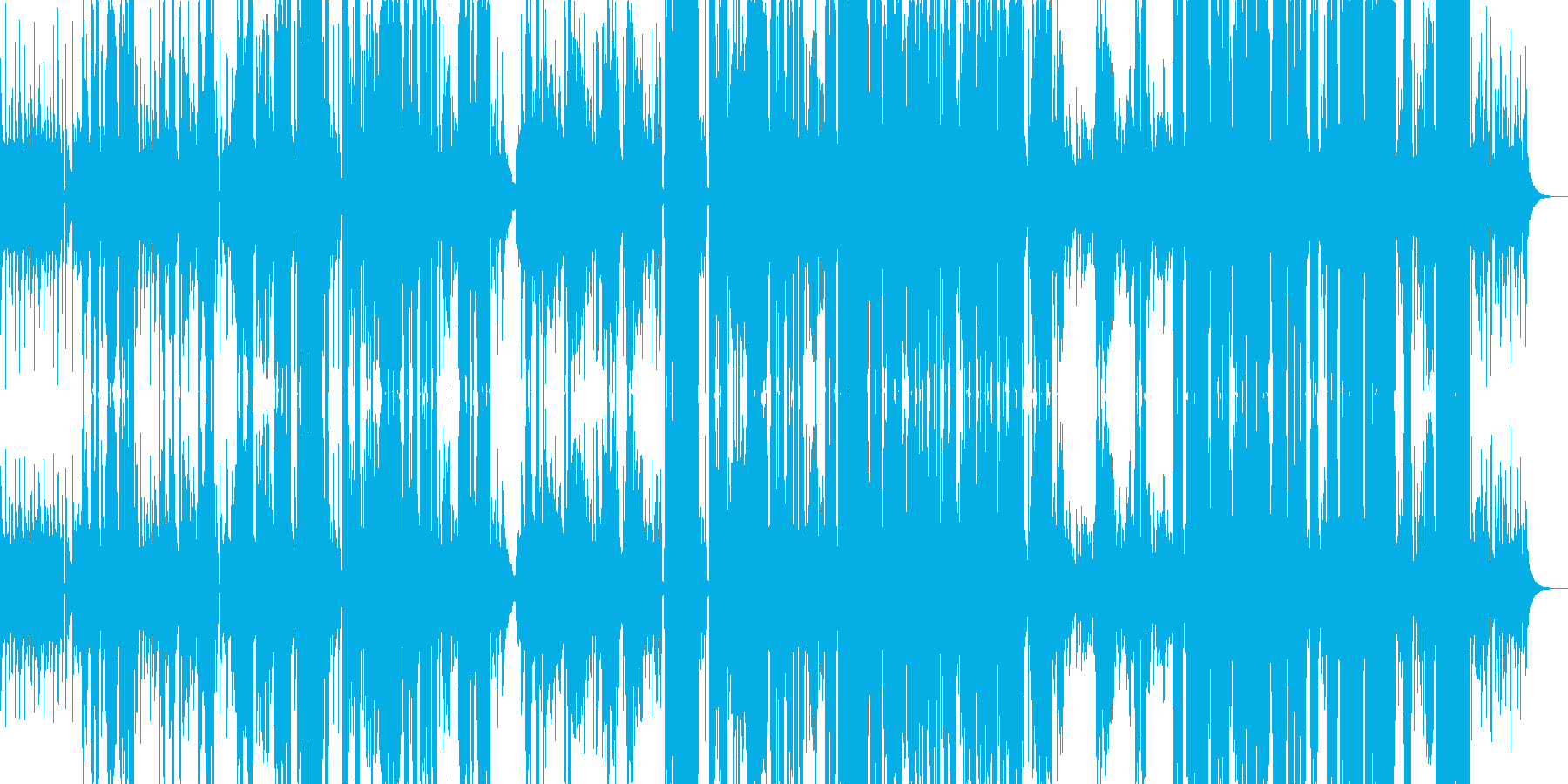 Blues-like pop music's reproduced waveform