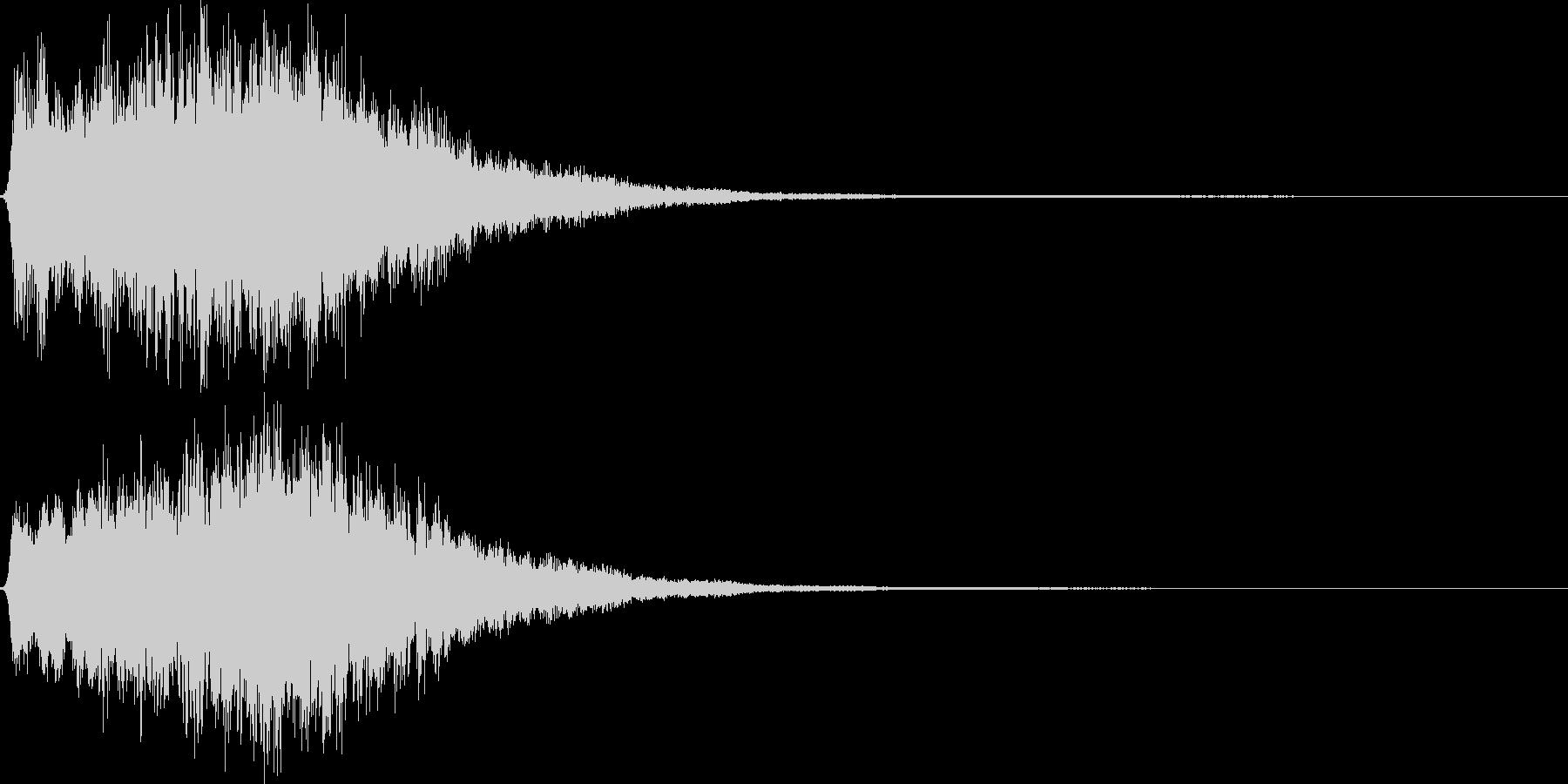 キュゥ。恐怖・悪寒の音B(下降)の未再生の波形