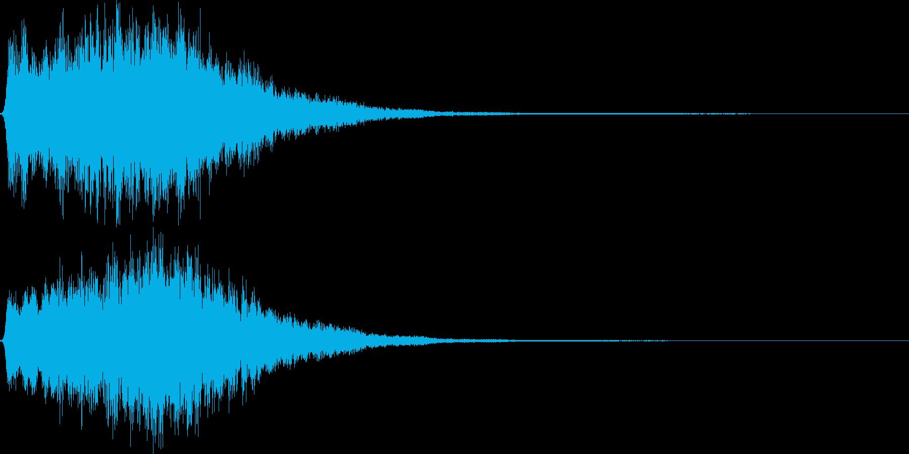 キュゥ。恐怖・悪寒の音B(下降)の再生済みの波形