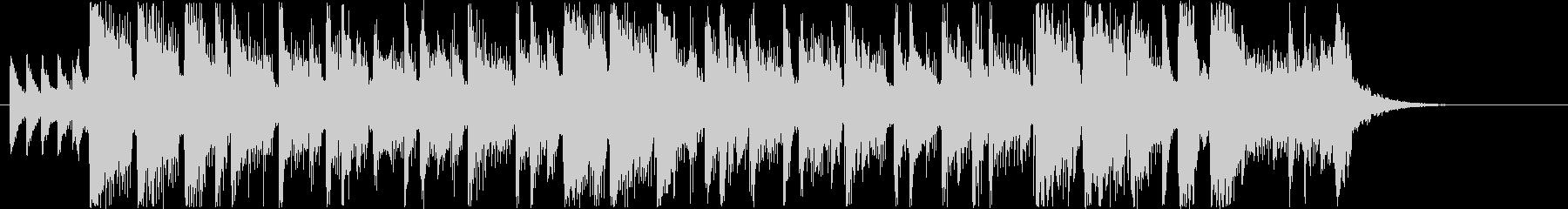 華やかなシンセサウンド短めの未再生の波形