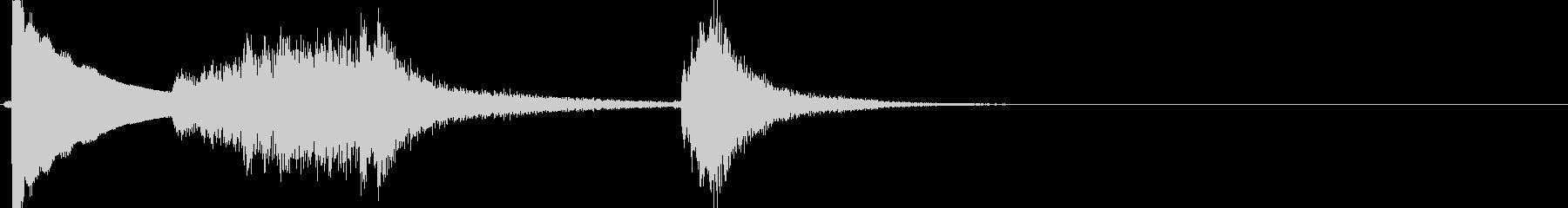 ビフォーアフター的なお琴場面切り替え の未再生の波形