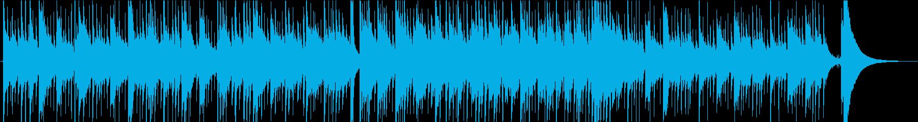 ピアノとギターの切ないノスタルジーBGMの再生済みの波形