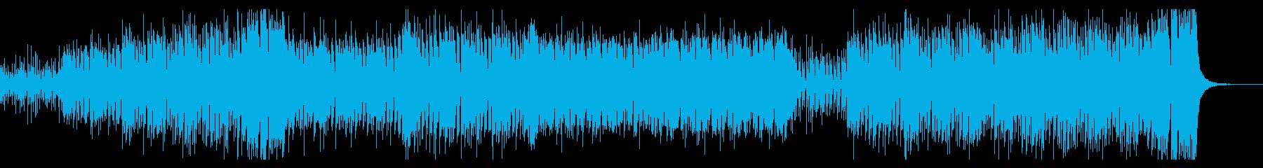 陽気で明るいラテン風BGMの再生済みの波形