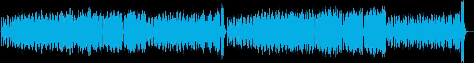怪しく軽快で楽しいアニメ調の曲の再生済みの波形