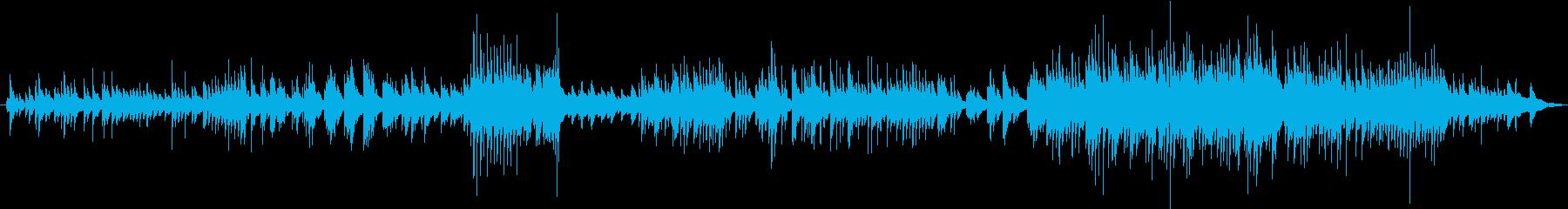 安心感と孤独感のある即興ワルツ曲の再生済みの波形