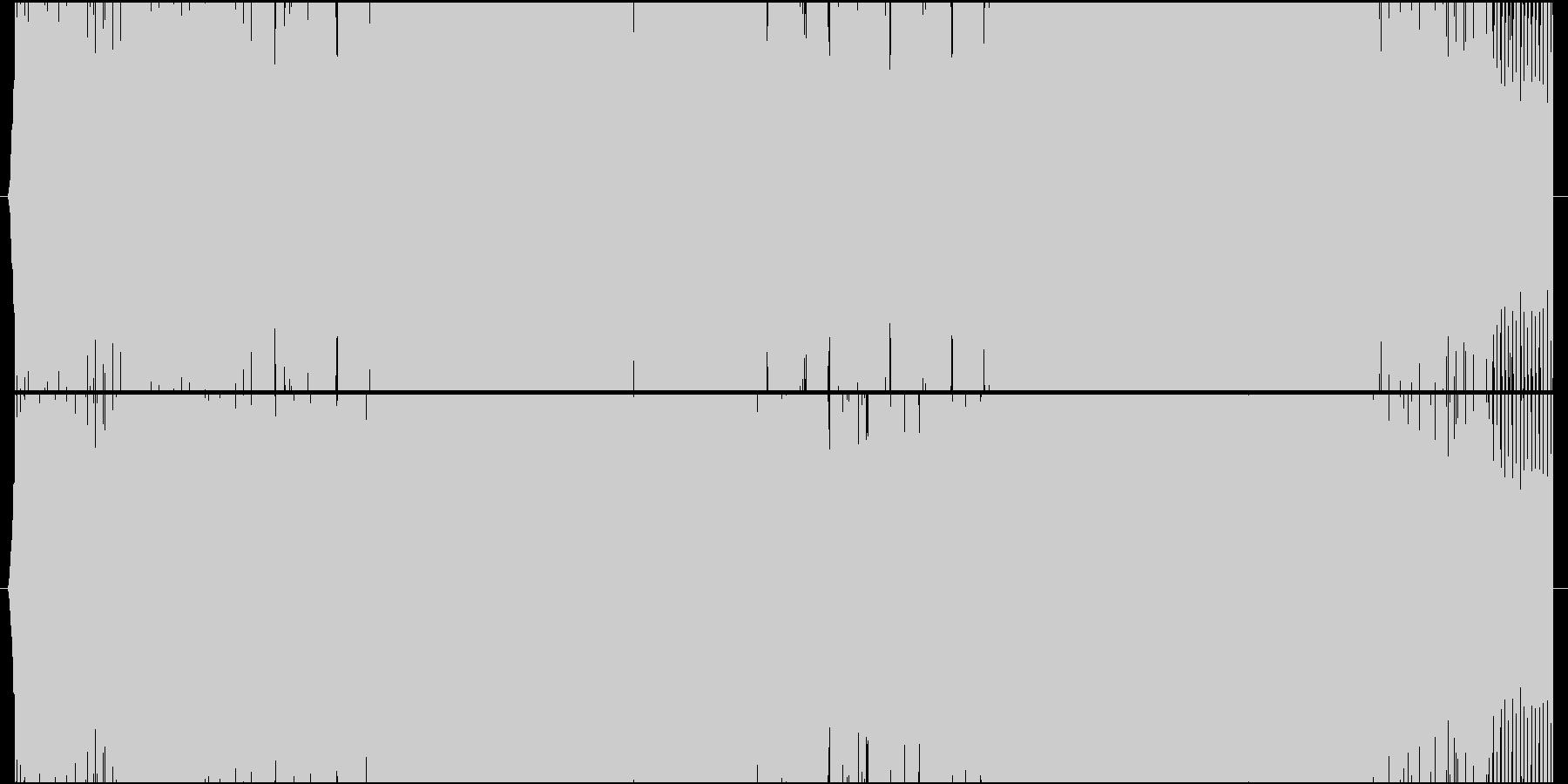 少し哀愁漂うエレクトロハウスの未再生の波形