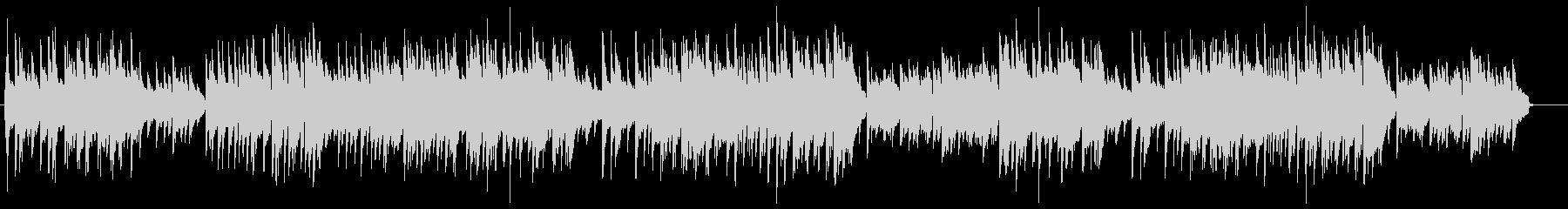 優しいメロディアスなピアノバラードの未再生の波形
