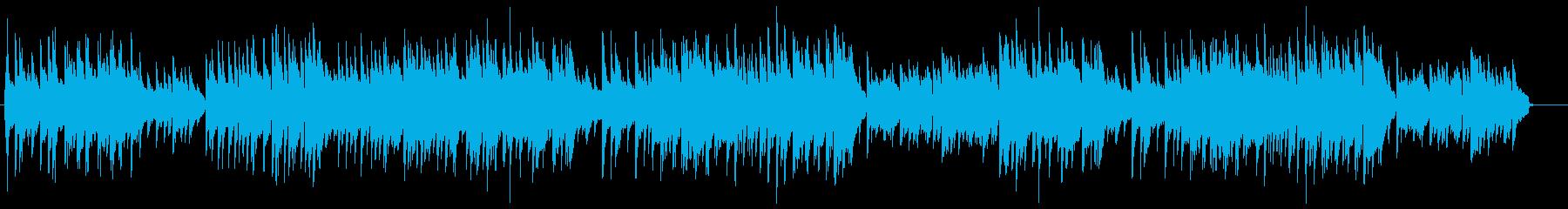 優しいメロディアスなピアノバラードの再生済みの波形