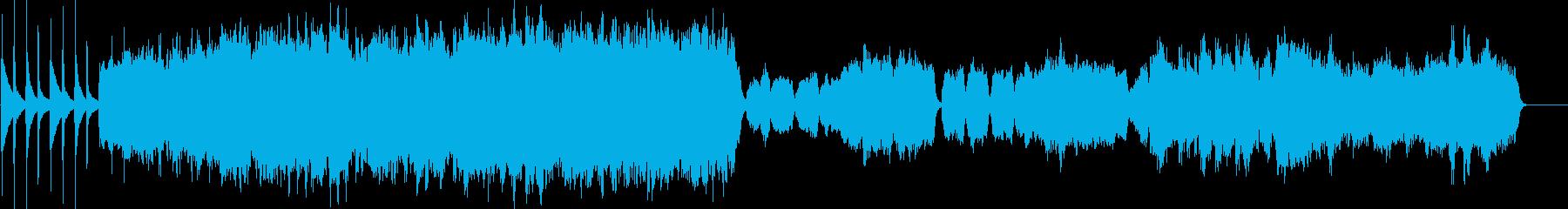 バロック風の厳かなクリスマスの曲の再生済みの波形