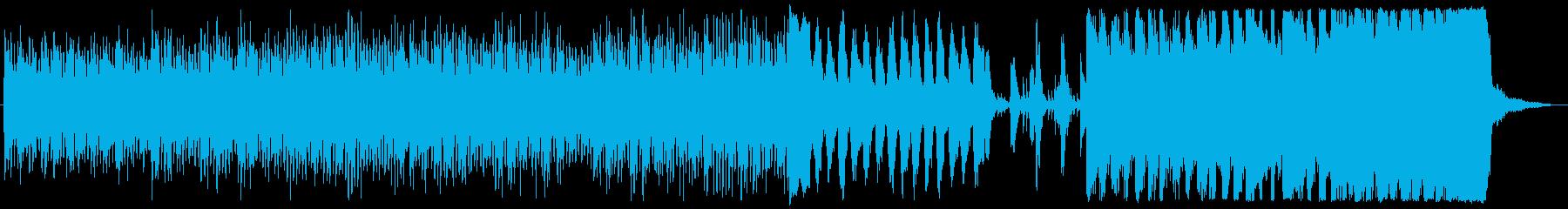 緊張感のあるストリングスの再生済みの波形