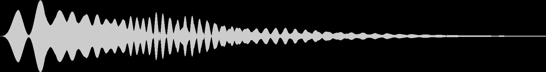 カーソル・決定・キャンセル音 「フォウ」の未再生の波形