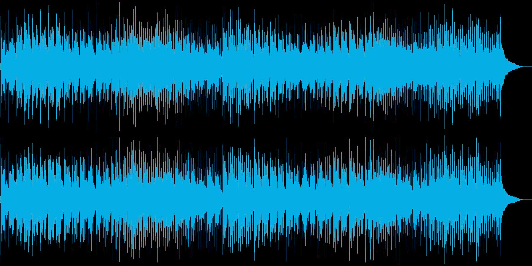 伝統的和風琴と低音ダンスビートミックスの再生済みの波形