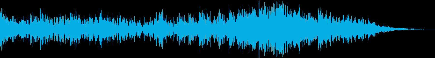 重厚なリズムが主体の力強いジングルの再生済みの波形