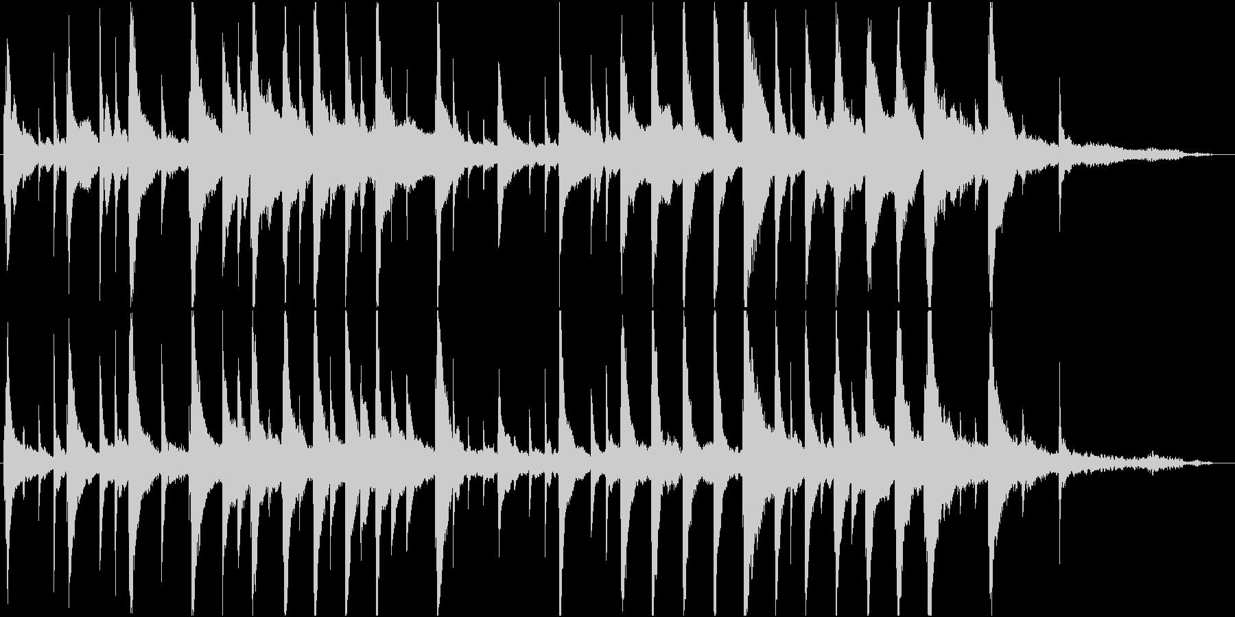 まどろみの様なピアノ楽曲の未再生の波形