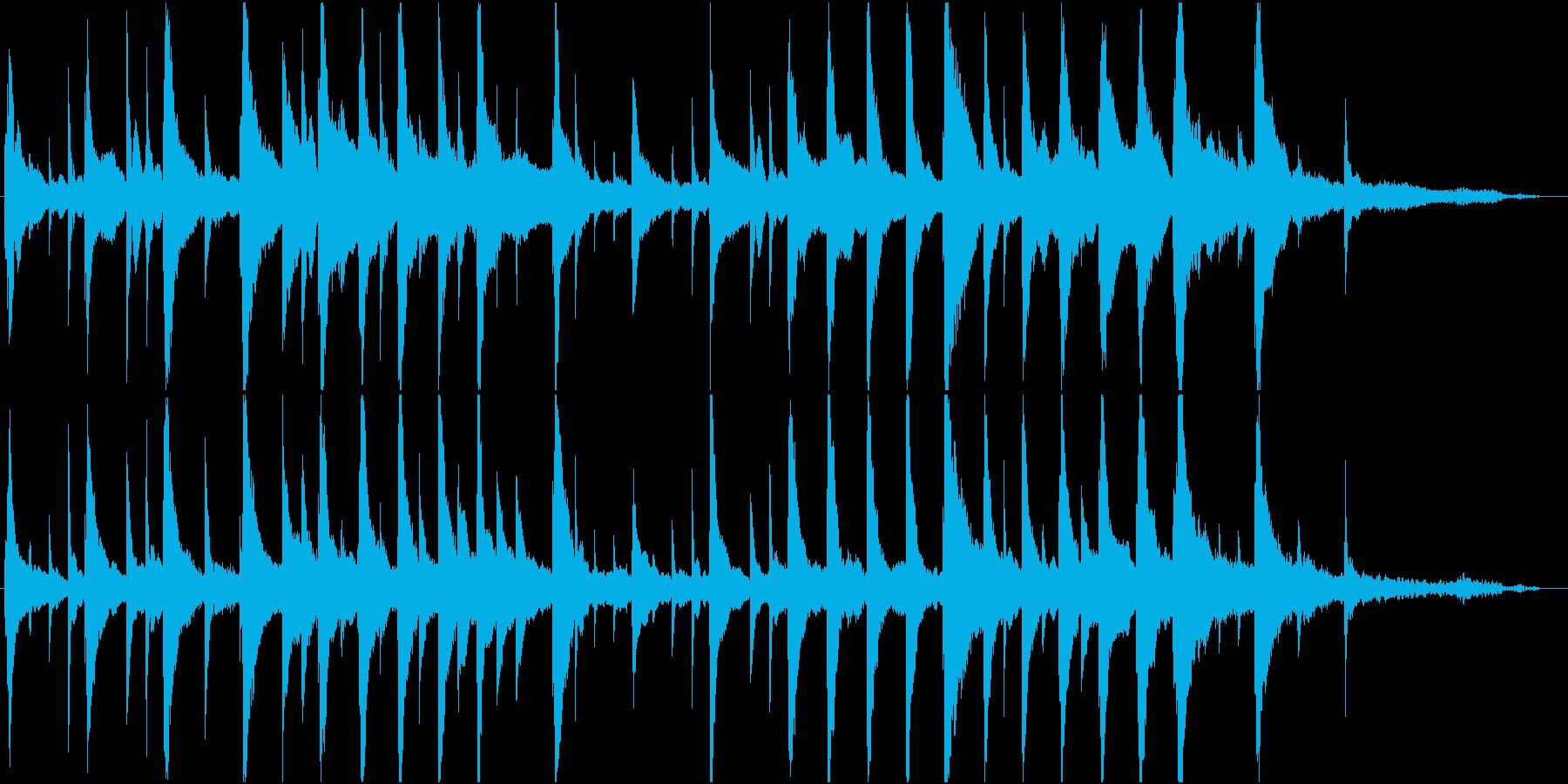 まどろみの様なピアノ楽曲の再生済みの波形