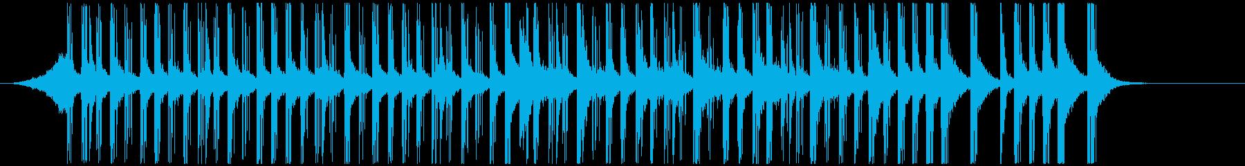 ドラムと手拍子ジングル明るい疾走感(短) の再生済みの波形
