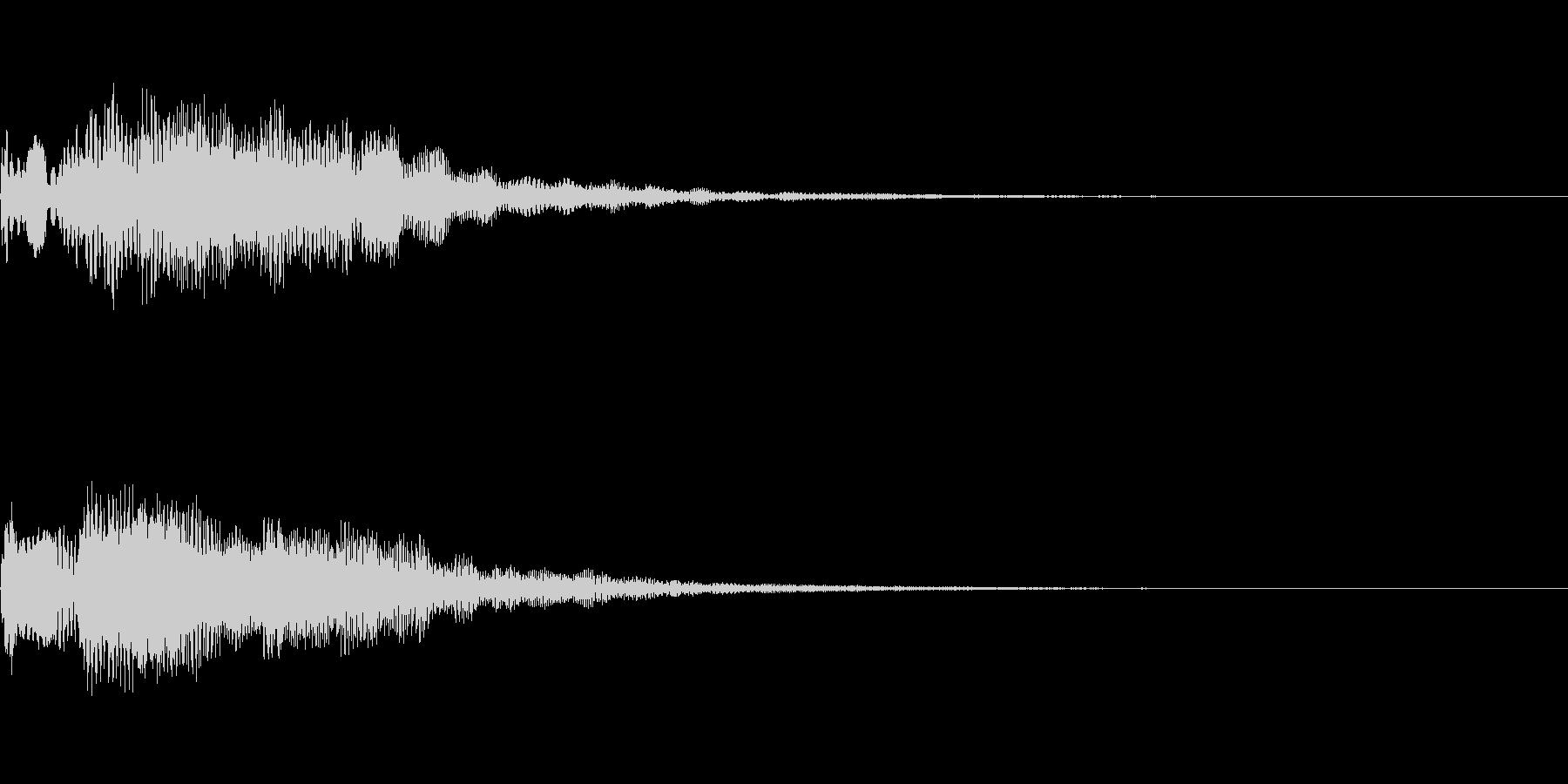 明るいテロップ音 ボタン音 決定音11bの未再生の波形