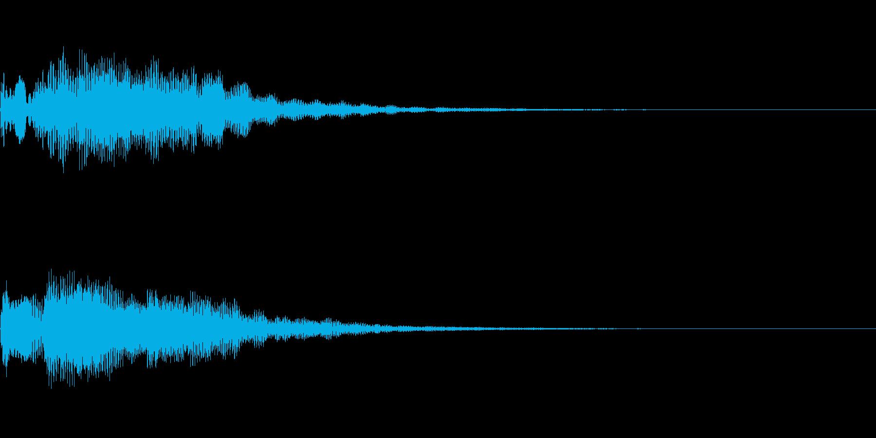 明るいテロップ音 ボタン音 決定音11bの再生済みの波形