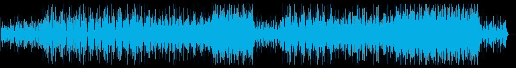 和風味の琴がメロディを奏でるロックBGMの再生済みの波形