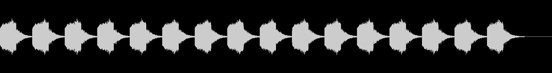 警告ブザー音の未再生の波形