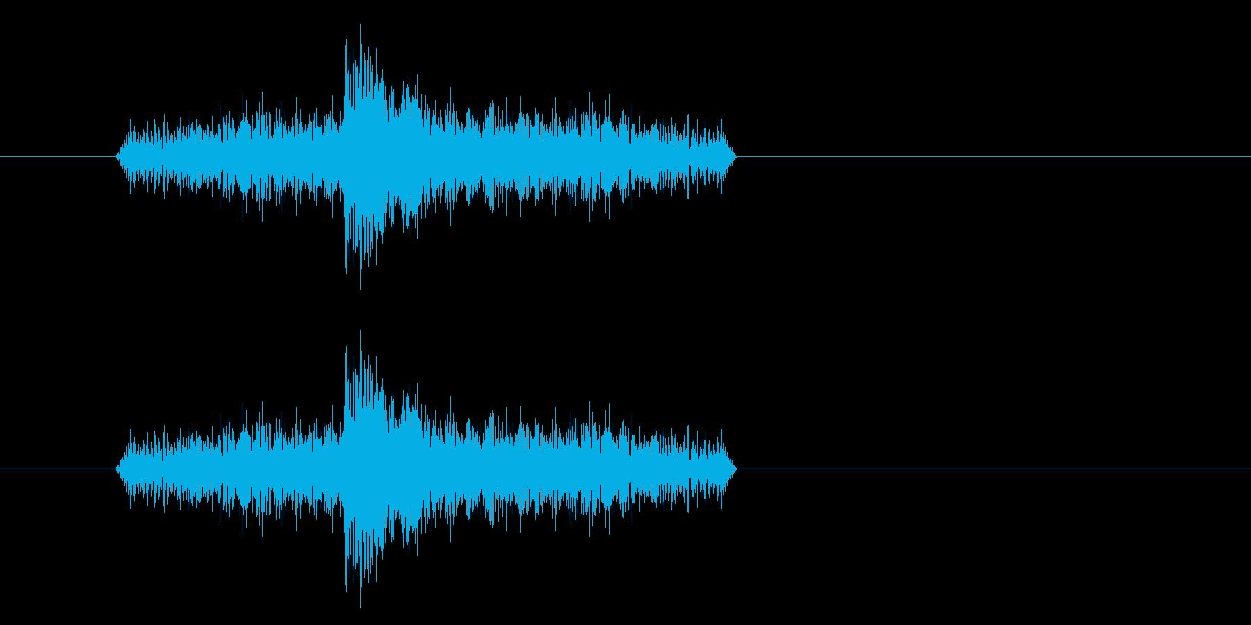 ジャン!リバースオケヒその1_音程低めの再生済みの波形