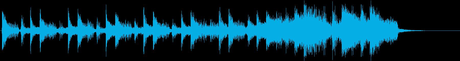 トライバルの段々大きくなるジングルの再生済みの波形