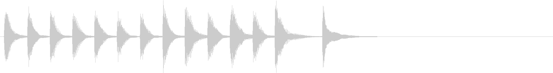 シンプルなピアノの刻みによるサウンドロゴの未再生の波形