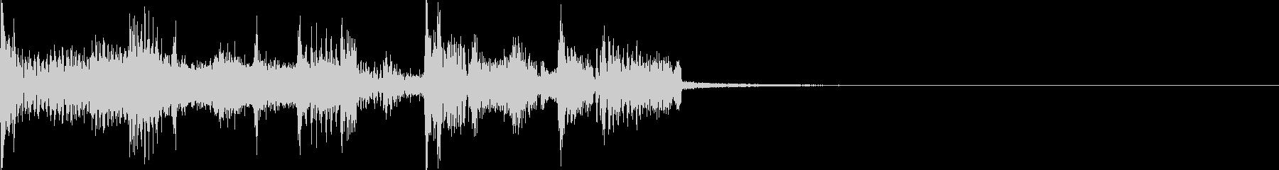 ハイテックでスラップベースなジングルの未再生の波形
