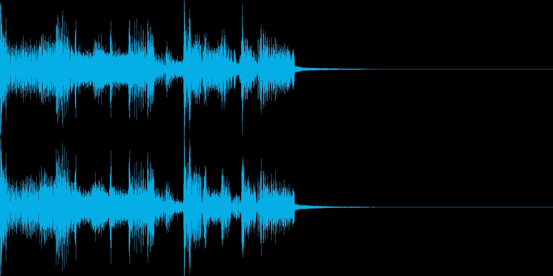 ハイテックでスラップベースなジングルの再生済みの波形