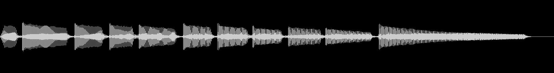 エレキギター6弦チューニング1の未再生の波形