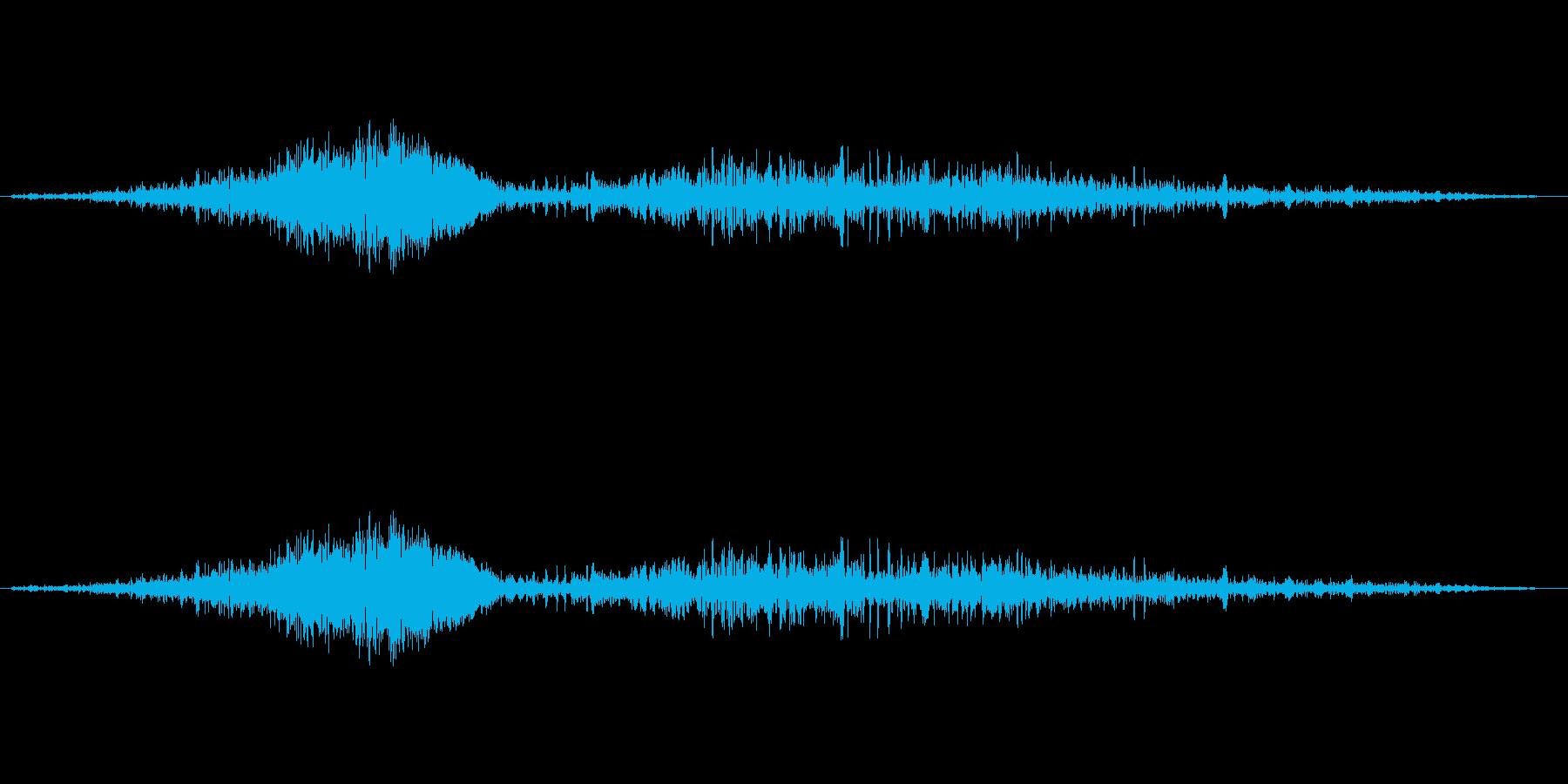 しゅー、しゅるるの再生済みの波形
