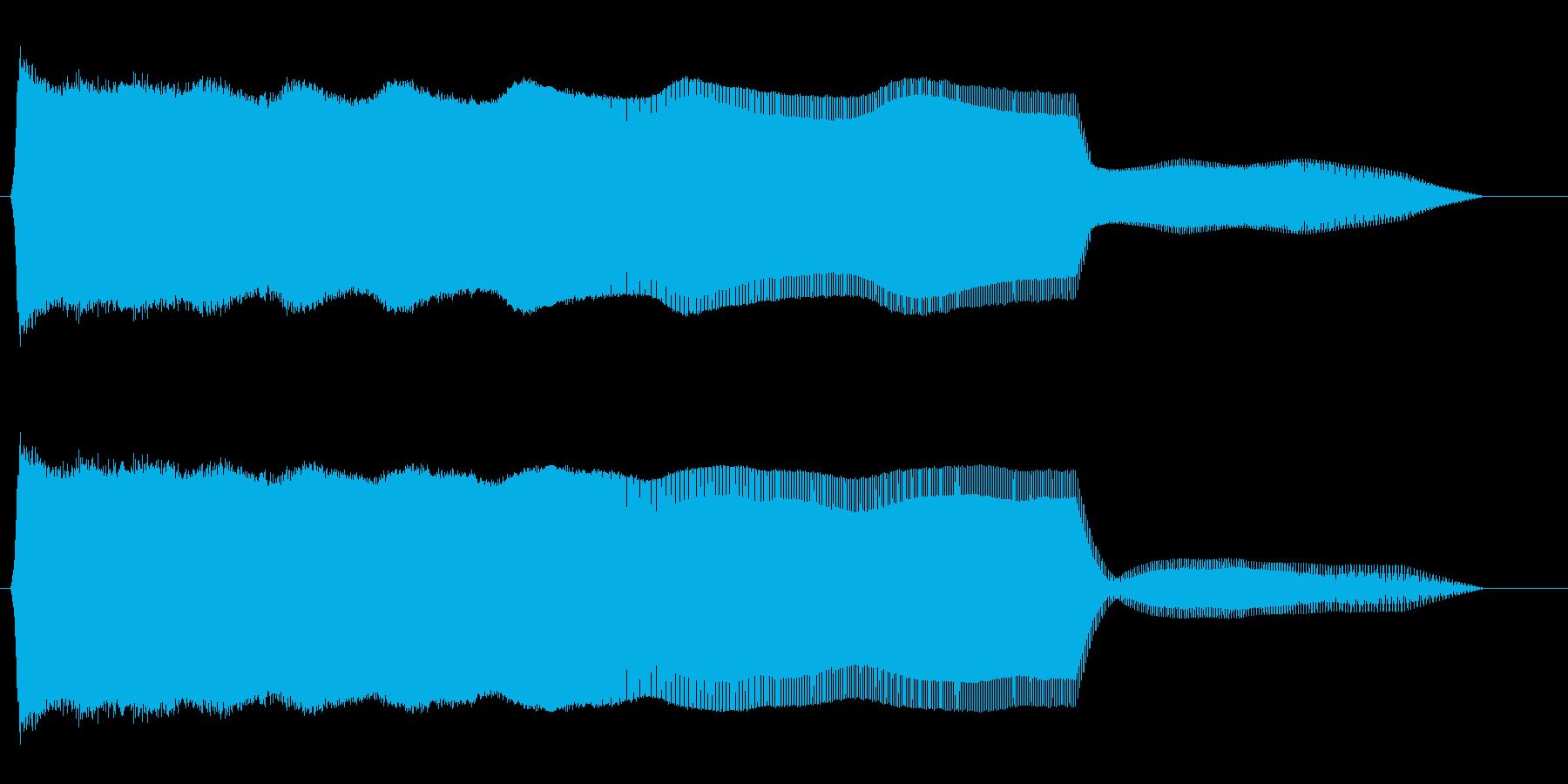 ピューーン↓(長めの飛行音)の再生済みの波形