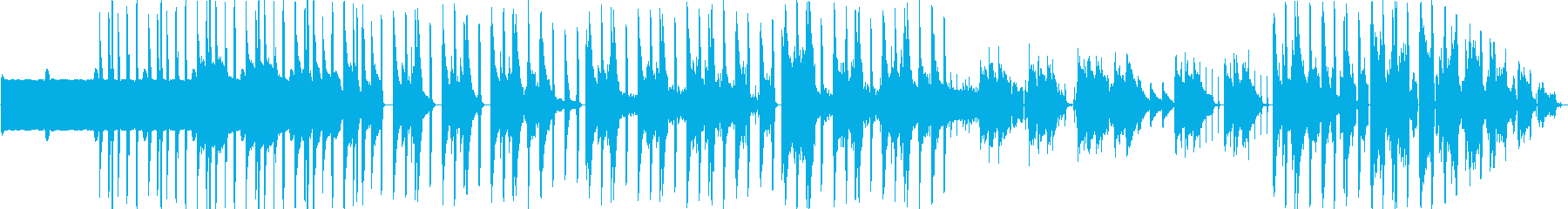 揺れるスローテンポなR&Bの再生済みの波形
