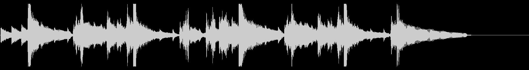 【20秒】落ち着いた雰囲気のピアノBGMの未再生の波形