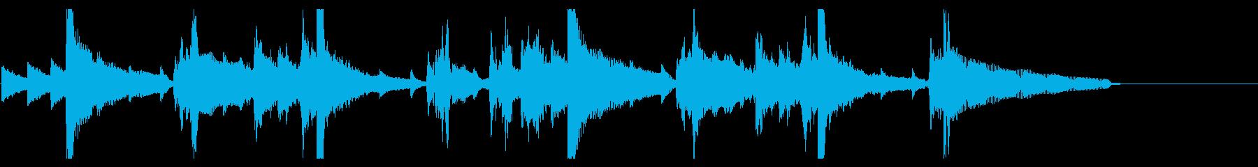 【20秒】落ち着いた雰囲気のピアノBGMの再生済みの波形