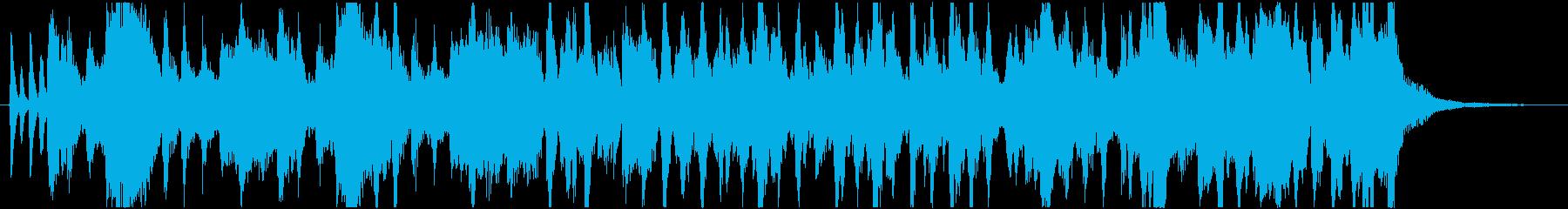 クイズ出題中BGMの再生済みの波形