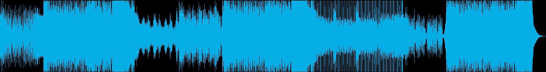 EDM 3分 動画 イメージ ピアノの再生済みの波形